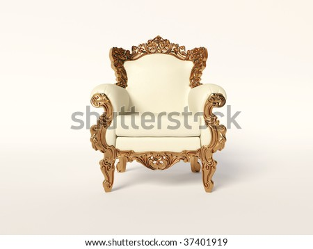 classic armchair  on white background