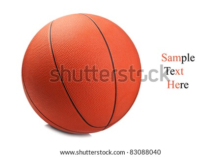classic basketball isolated on a white background - stock photo