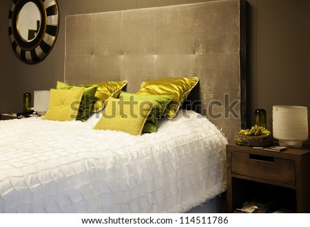 classic bed room - stock photo