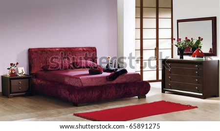 classic bedroom - stock photo