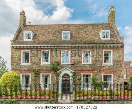 Classic British house - stock photo