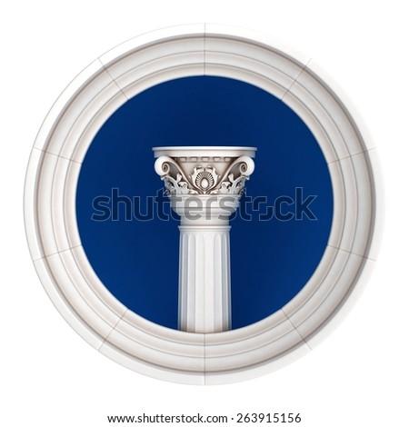 Classic Column Circle - stock photo