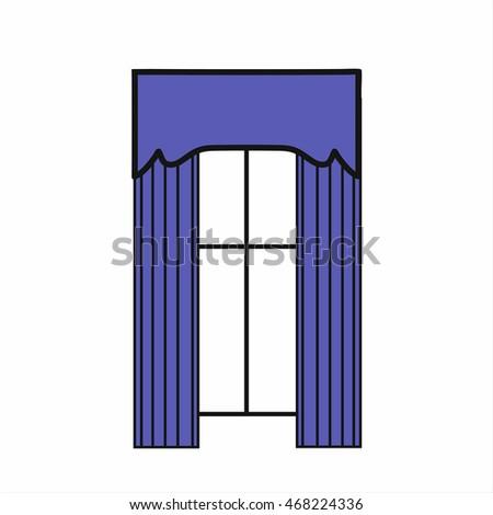 Window vector icon stock vector 412416055 shutterstock for Window design sketch