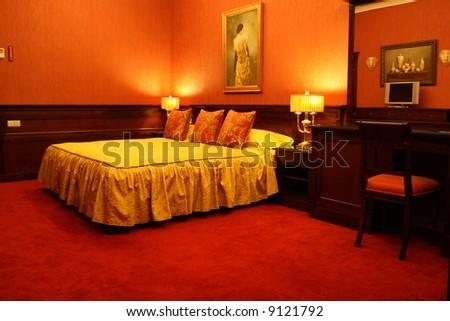 Classic European Hotel Room - stock photo