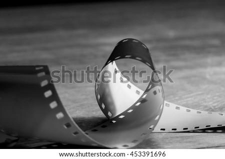 Classic film 35 mm. - stock photo