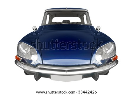 Vintage Car White Background Stock Photos Royalty Free Images