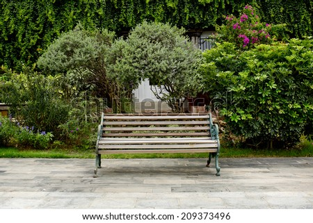 Classic Garden bench - stock photo