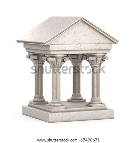 Classic Greek Antique Building - stock photo