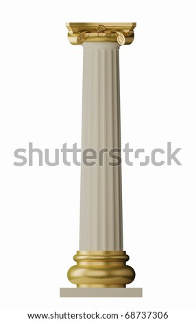 Classic Greek Column - stock photo