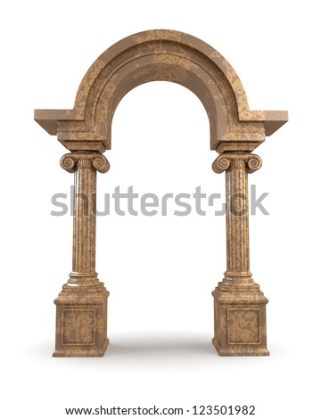Classic Greek Marble Arc - stock photo