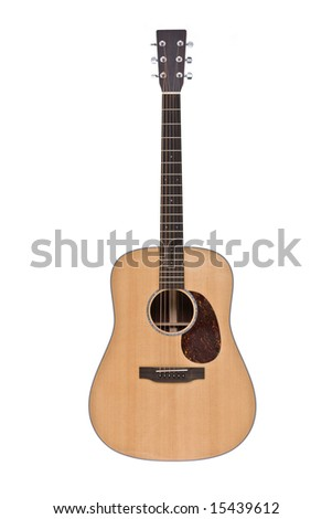 Classic guitar isolated on white - stock photo