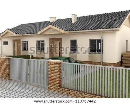 Usawicka 39 s house set on shutterstock for Classic sliders yard house