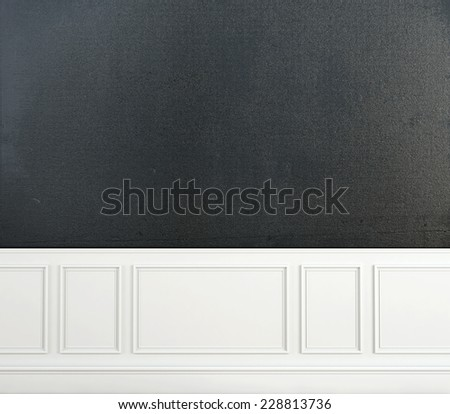 Classic interior with chalkboard. - stock photo