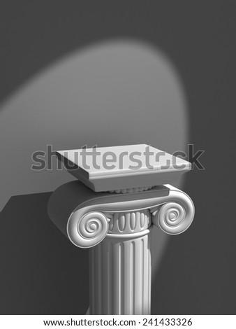 Classic Ionic Column in the Spotlight - stock photo