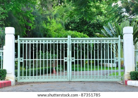 Classic Iron Gate - stock photo