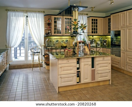 classic kitchen in the house