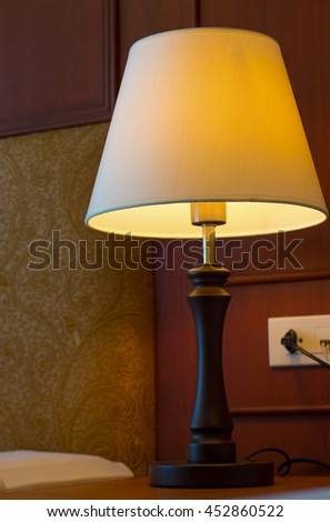 classic lamp at bedroom