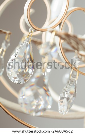 Classic lamp crystal light background