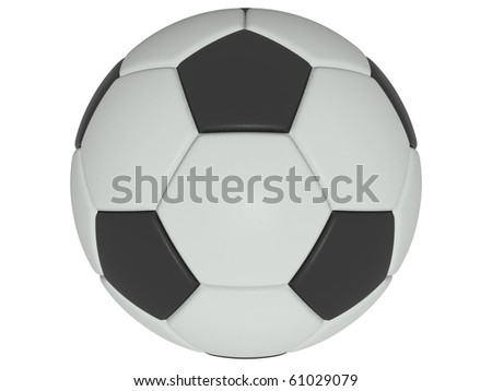 classic leather soccer ball on isolated background - stock photo
