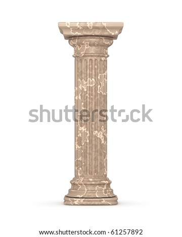 Classic Marble Column - stock photo