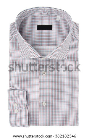 Classic men's shirt folded