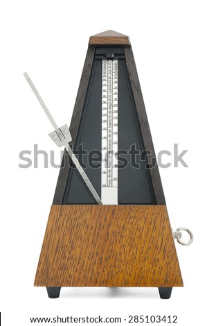Classic metronome isolated on white background - stock photo