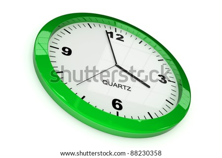 classic office clock on white background