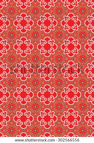 Classic Oriental Pattern - stock photo