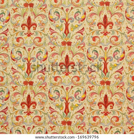 classic ornamental wrapping paper  - stock photo