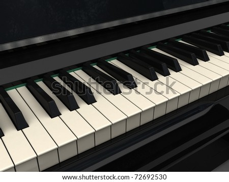 Classic piano keyboard - stock photo