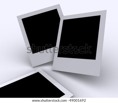 Classic picture frames of instant image cameras - stock photo
