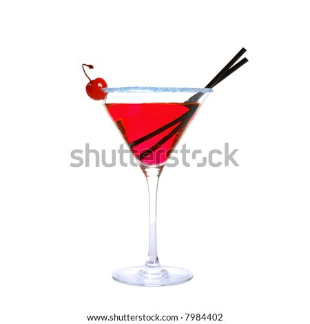 classic red cocktail isolated on white