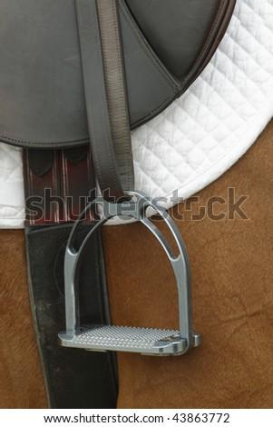 Classic Riding Saddle - stock photo