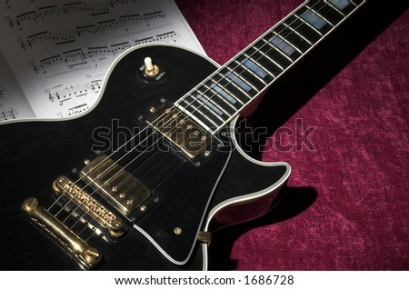 Classic rock guitar - stock photo