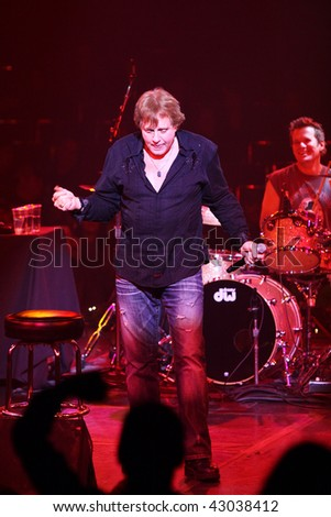 classic rocker Eddie Money performs an acoustic set of his chart-topping hits for fans at the Celebrity Theatre on December 17, 2009 in Phoenix AZ.