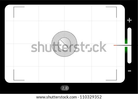 Classic SLR viewfinder, with free space for your pics, vector - stock photo