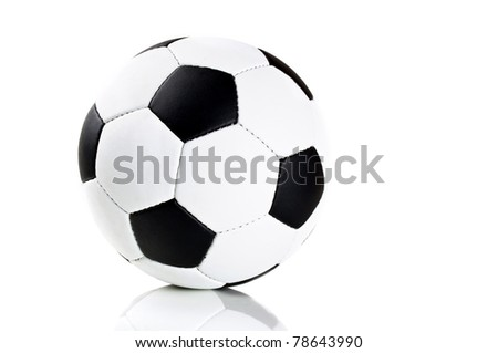 classic soccer ball isolated on a white background - stock photo