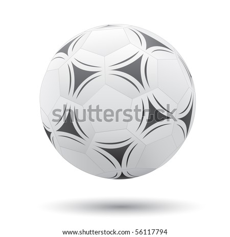 Classic soccer ball isolated on the white background - stock photo