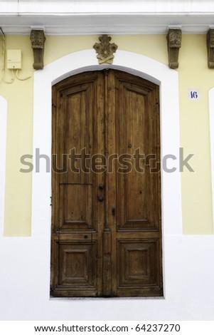 Classic Spanish Front Door - stock photo