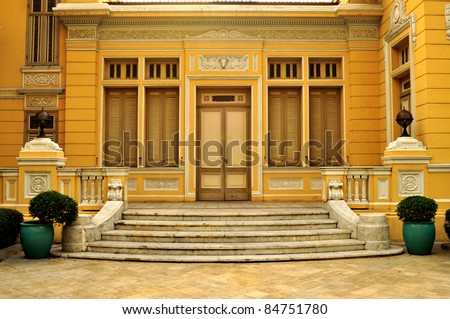 Classic style gate of old building ,Bangkok Thailand - stock photo