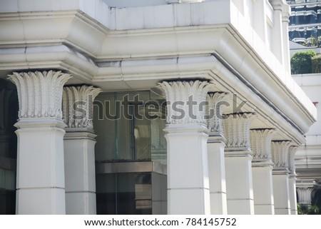 classic style pillars corinthian columns commercial stock photo