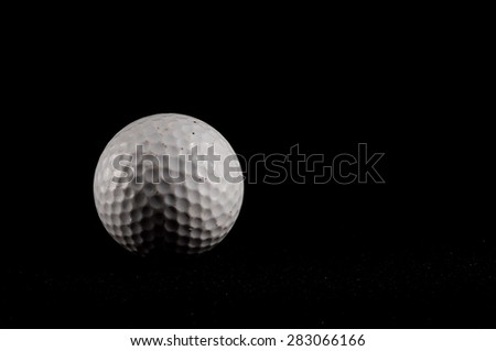 Classic Style Round Golf Ball Textured Sphere