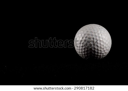 Classic Style Round Golf Ball Textured Sphere - stock photo