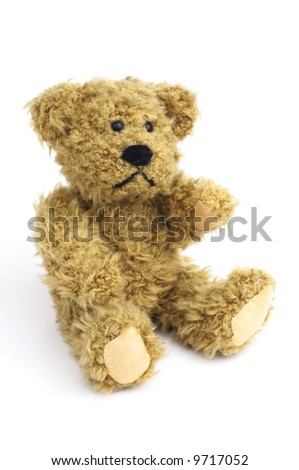 Classic teddy-bear isolated on white background