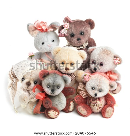 Classic teddy bears  - stock photo
