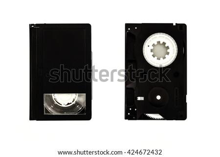 classic vhs compact cassette - stock photo