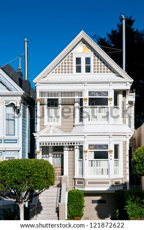 Classic victorian house in San Francisco, California, USA