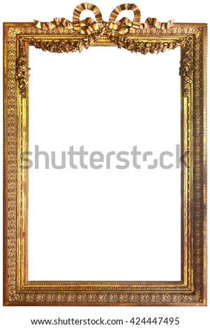 Classic Vintage Antique Gilded Frame Isolated Stock Photo (Download ...