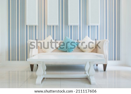 Classic Vintage Style Furniture Set in a living room - stock photo