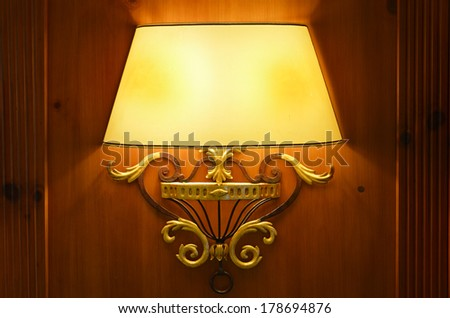 Classic vintage wall lamp - stock photo